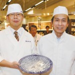 Fugu specialists, Mr.Takebayashi and Mr.Sasaki from Shimonoseki, Japan.
