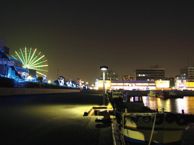 Night Lights Of Nagoya Port