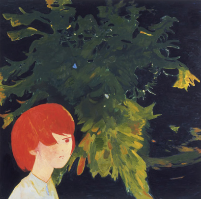 Makiko Kudo might fl y at night (2007) oil on canvas, 117.0x117.0cm © Makiko Kudo Courtesy: Tomio Koyama Gallery