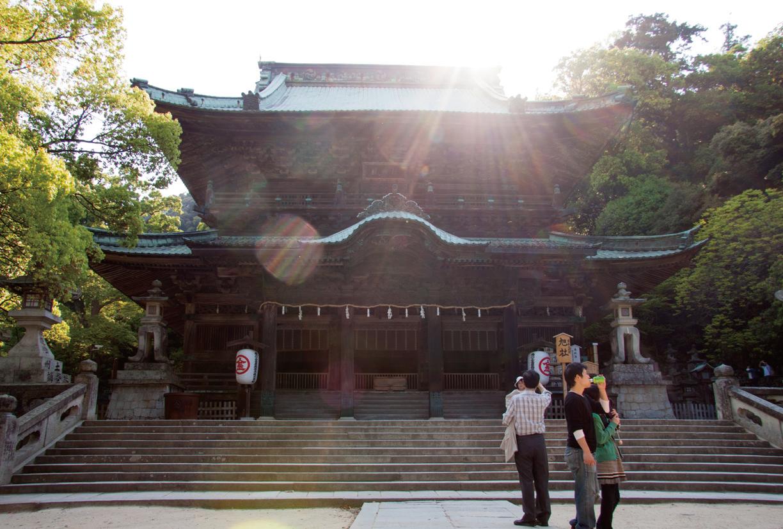 Kompira-san in the setting sun